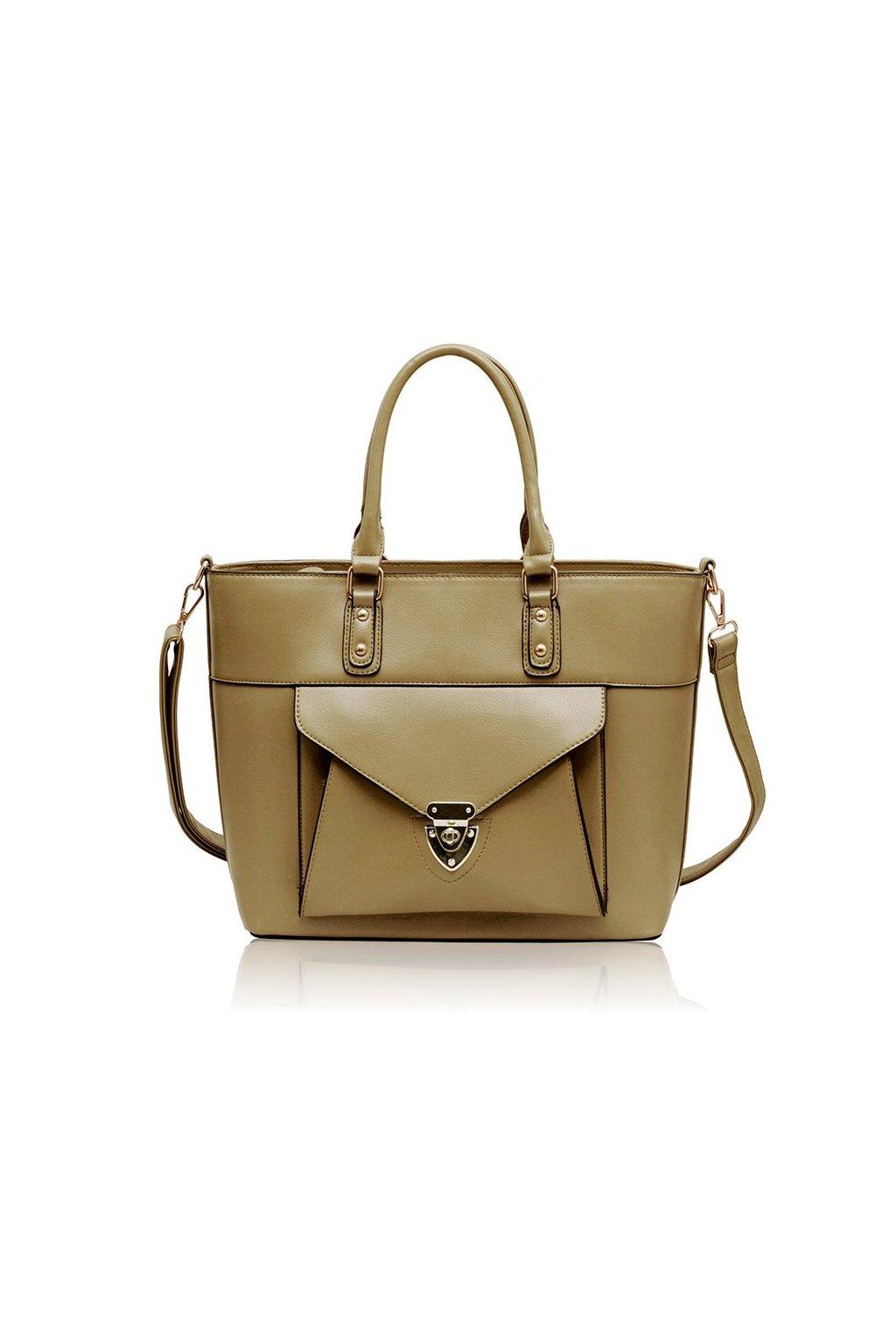 Shopper kabelka do ruky Henrietta telová LS00181