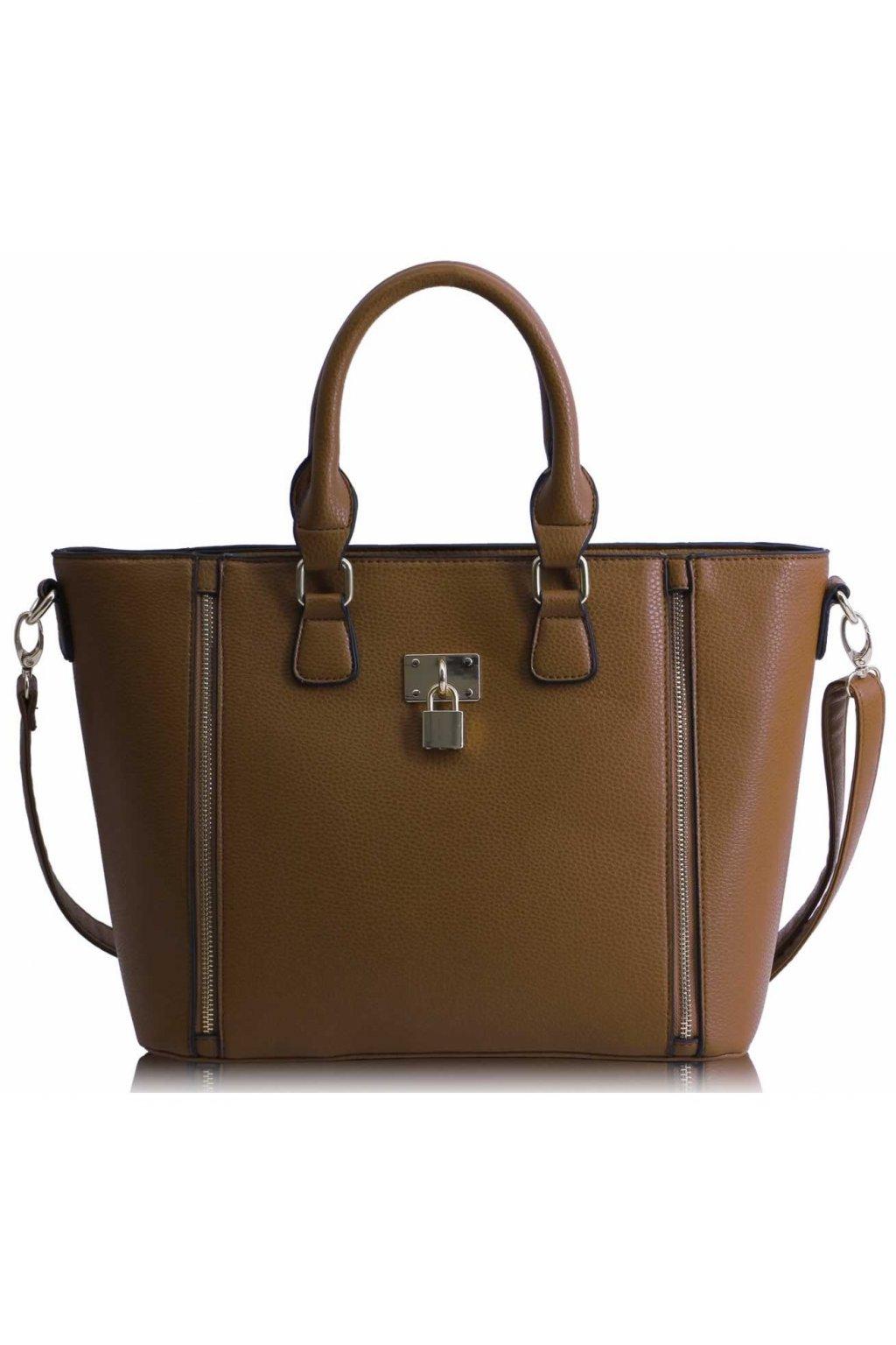 Shopper kabelka do ruky Christiana zhnedá LS0031