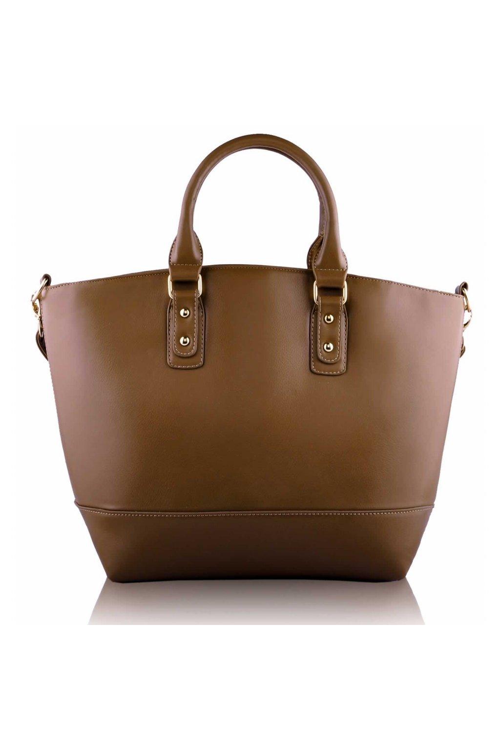 Shopper kabelka do ruky Loran B zhnedá LS0085B