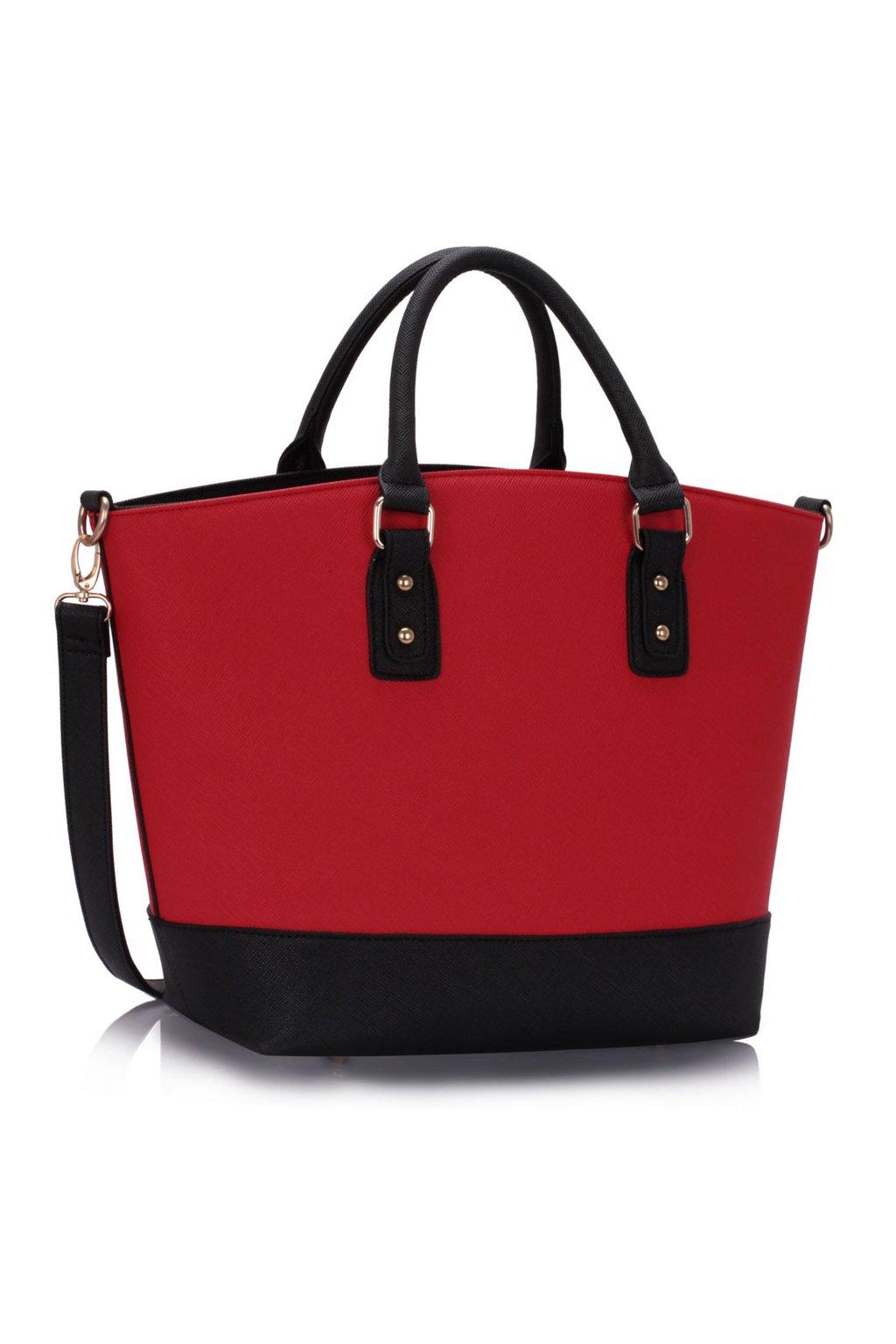 Shopper kabelka do ruky Loran čierno / červená LS0085