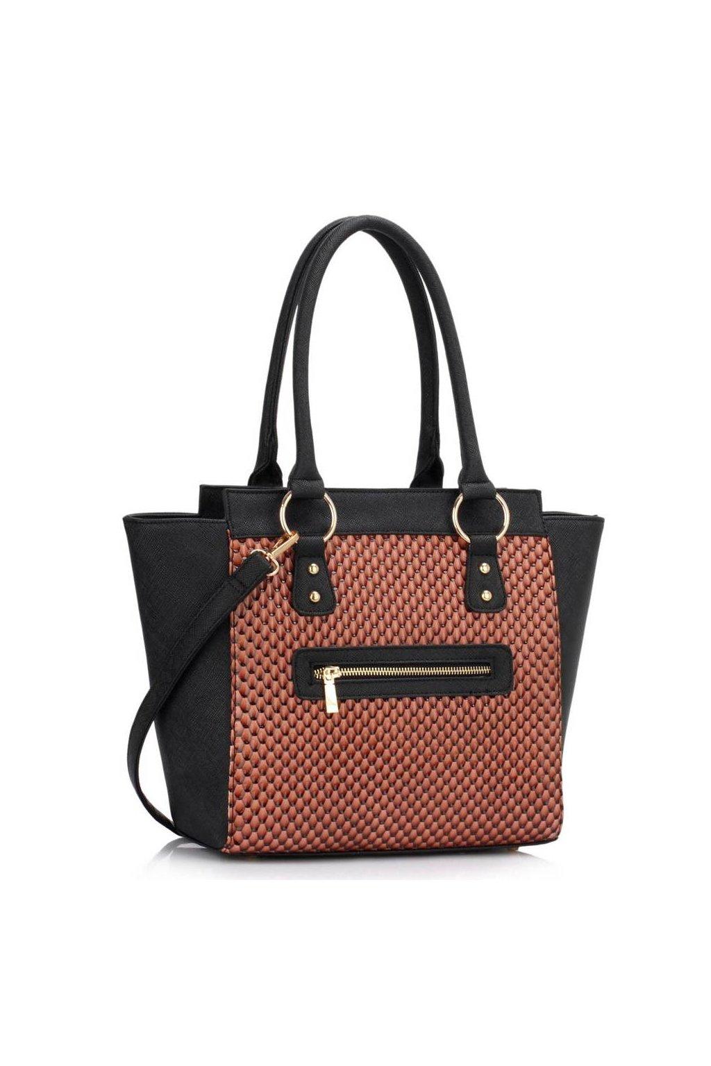 Shopper kabelka do ruky Milly čierna / telová