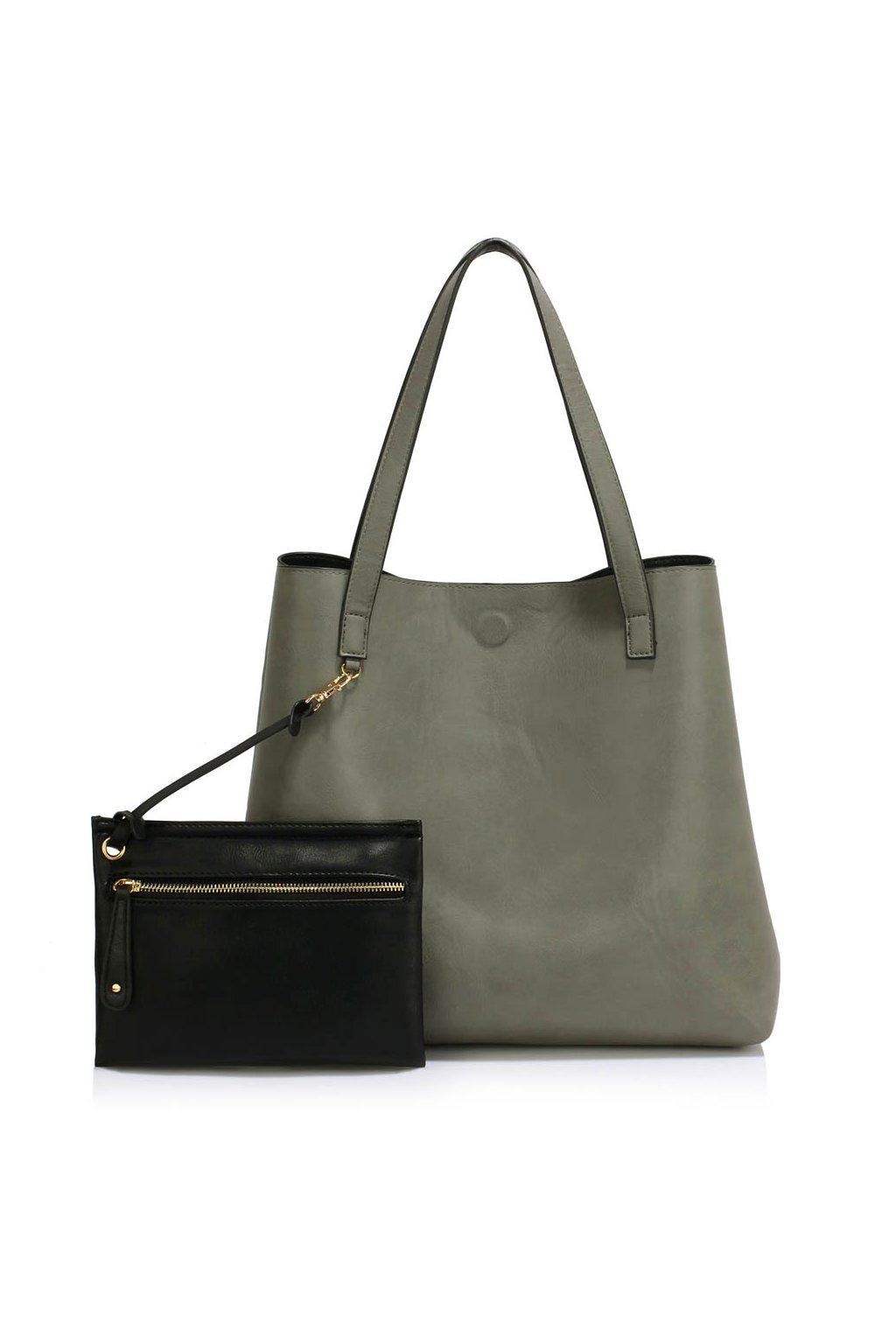 Shopper kabelka do ruky Netta čierna sivá LS00493 d10c01190a6