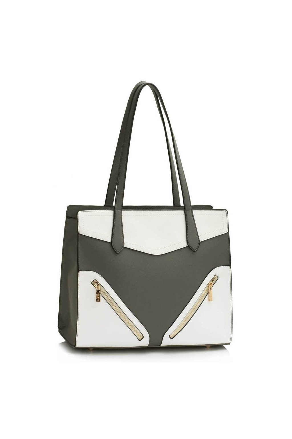 Sivo - biela kabelka na rameno Camille 29553a46b49