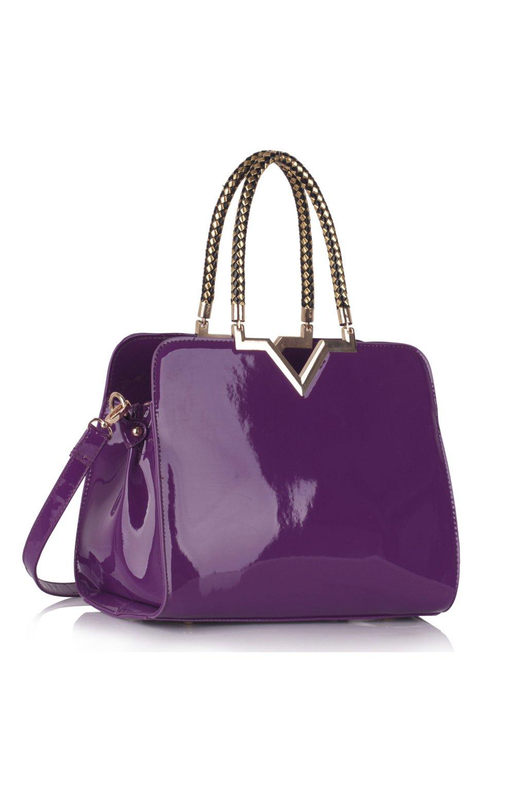 Trendová kabelka do ruky Adelaide fialová LS00385
