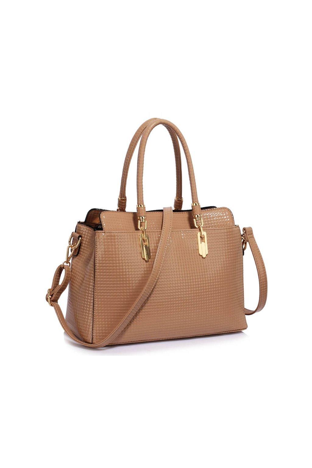 Trendová kabelka do ruky Adele telová LS00418A