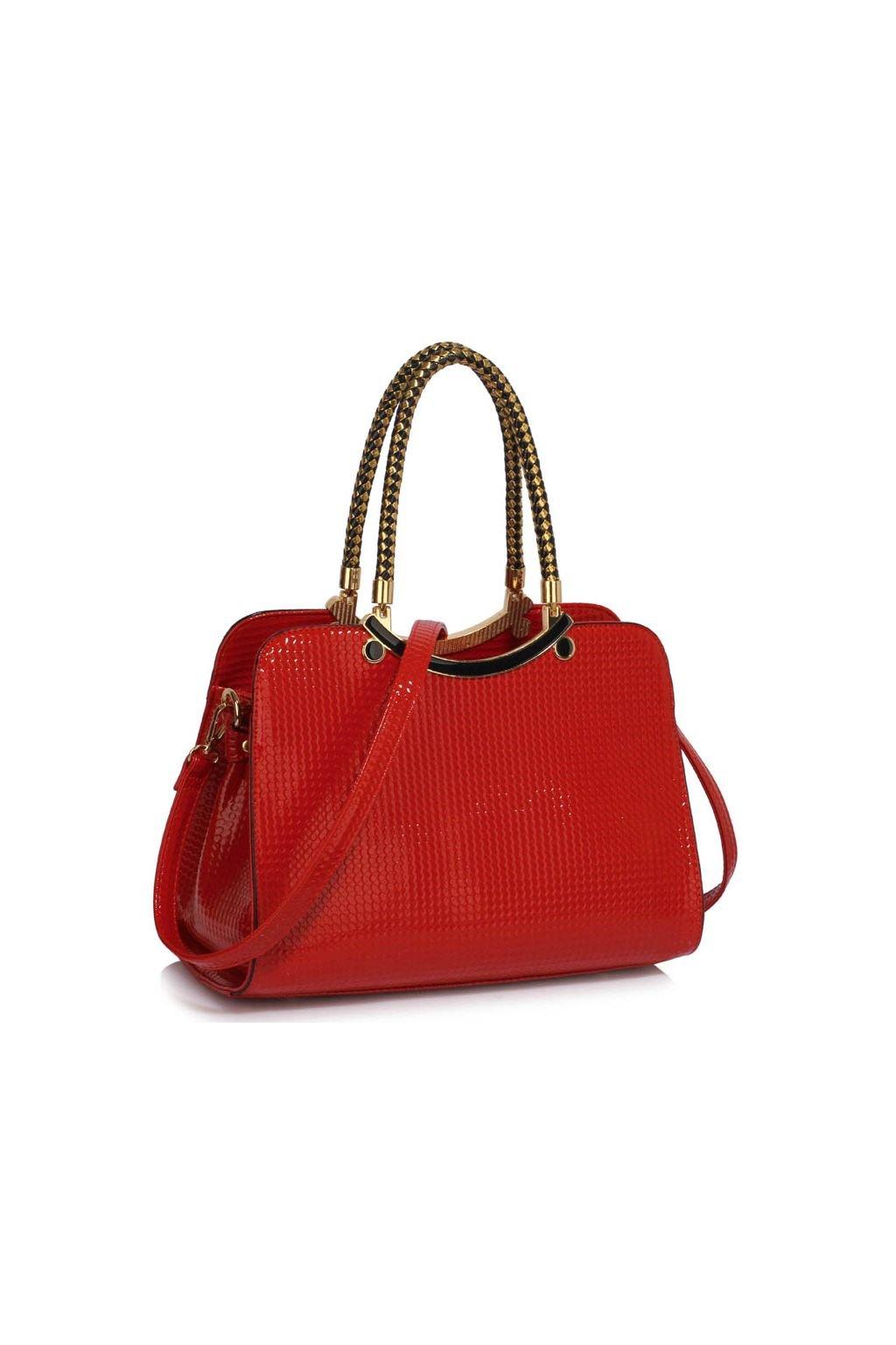 Trendová kabelka do ruky Cory červená LS00395