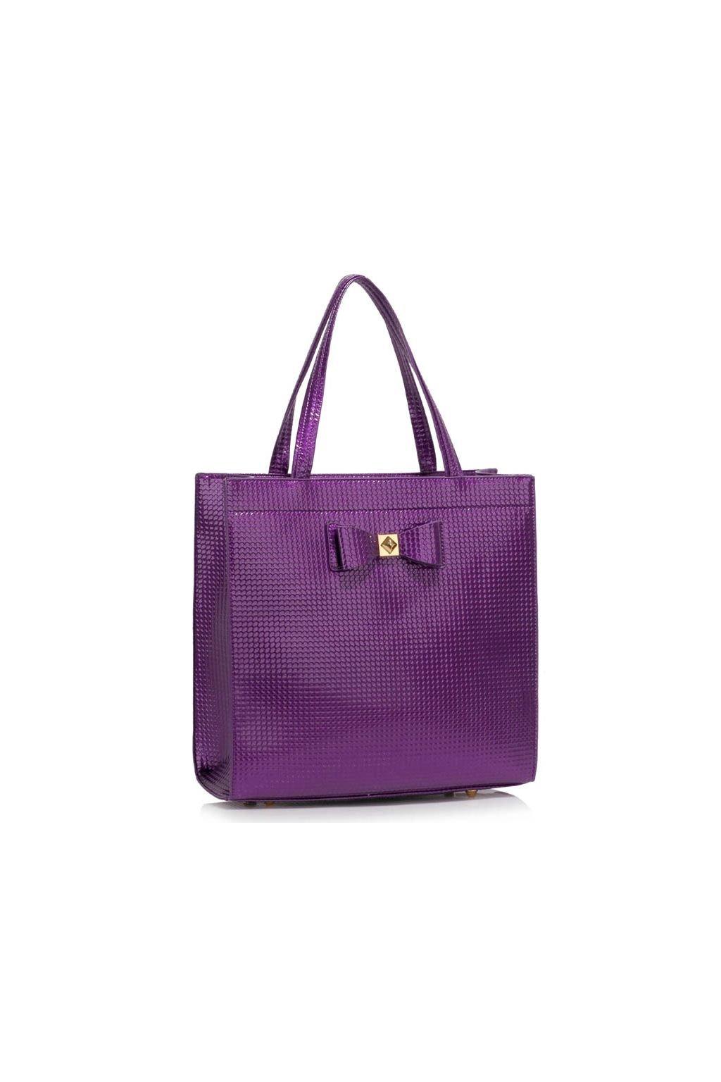 Trendová kabelka do ruky Lisa A fialová LS00383a