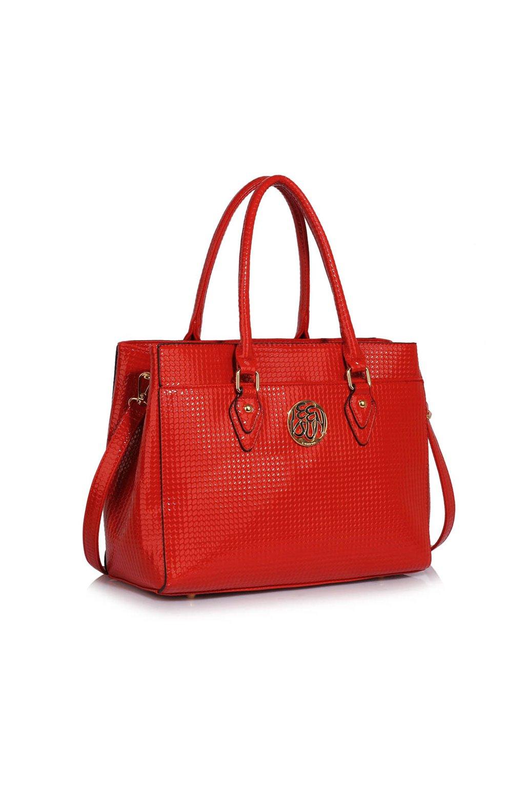 Trendová kabelka do ruky Rickie červená LS00511