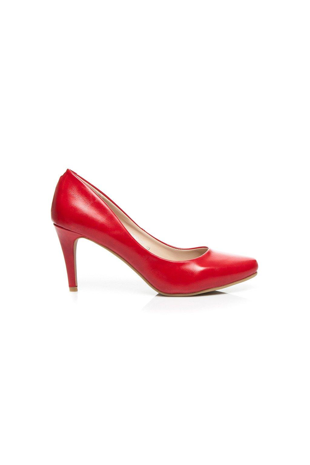 Červené lodičky 1043-19R (Veľkosť UK7 / EUR 40)