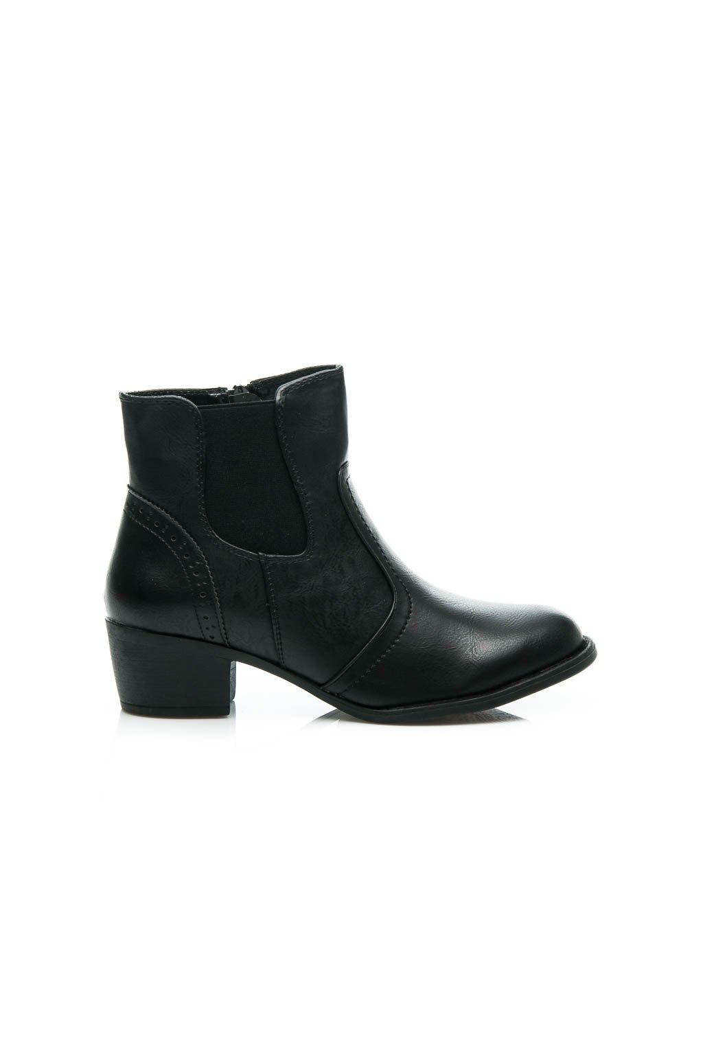 f37434bd4d0a Čierne kotníkové topánky SUPER MODE