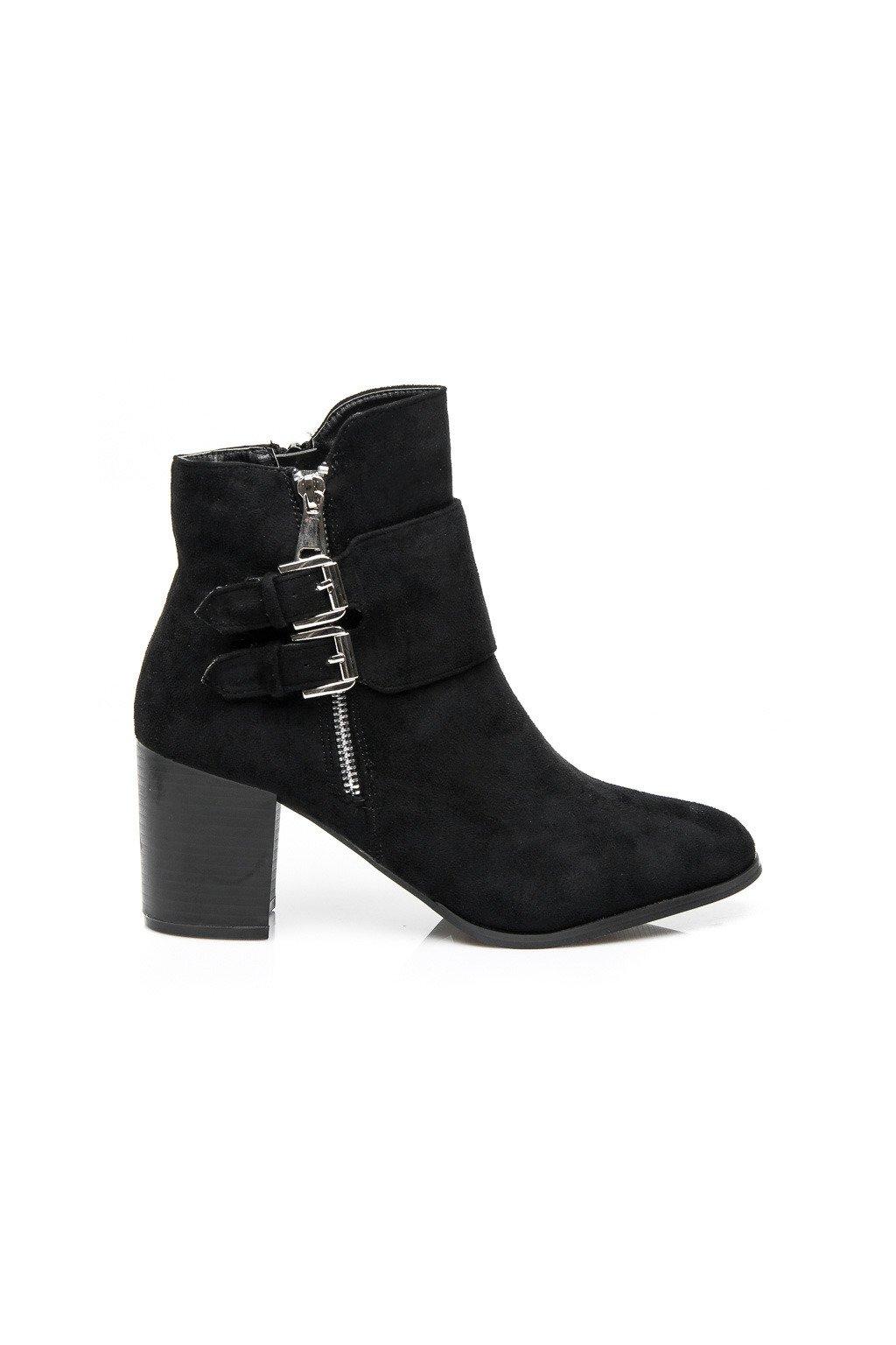 93d52e183 Dámske členkové topánky čierne vojenské čižmy Kylie