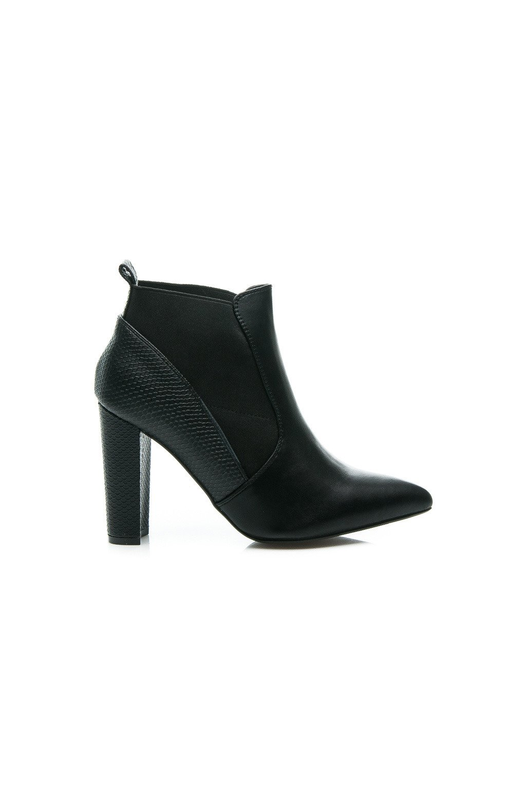 c3d1617eed5b Čierne topánky na vysokom opätku 2146-6B   S1-1P