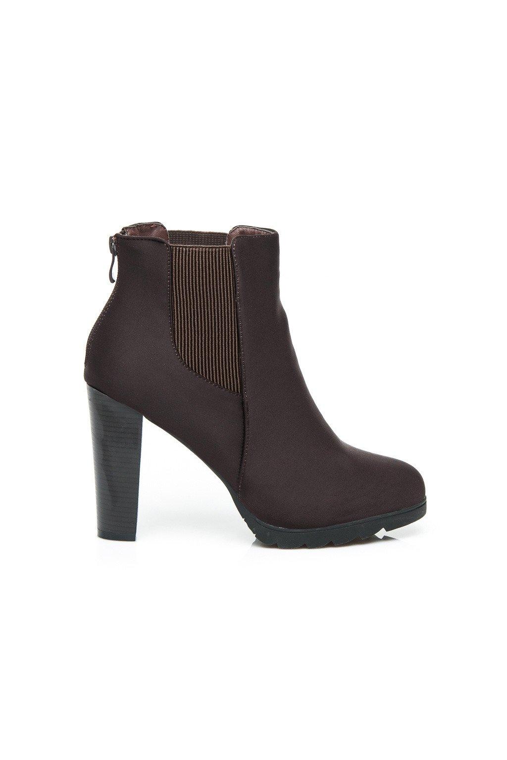 42898035b7db Hnedé topánky na opätku 23-M52231BR   S3-105P