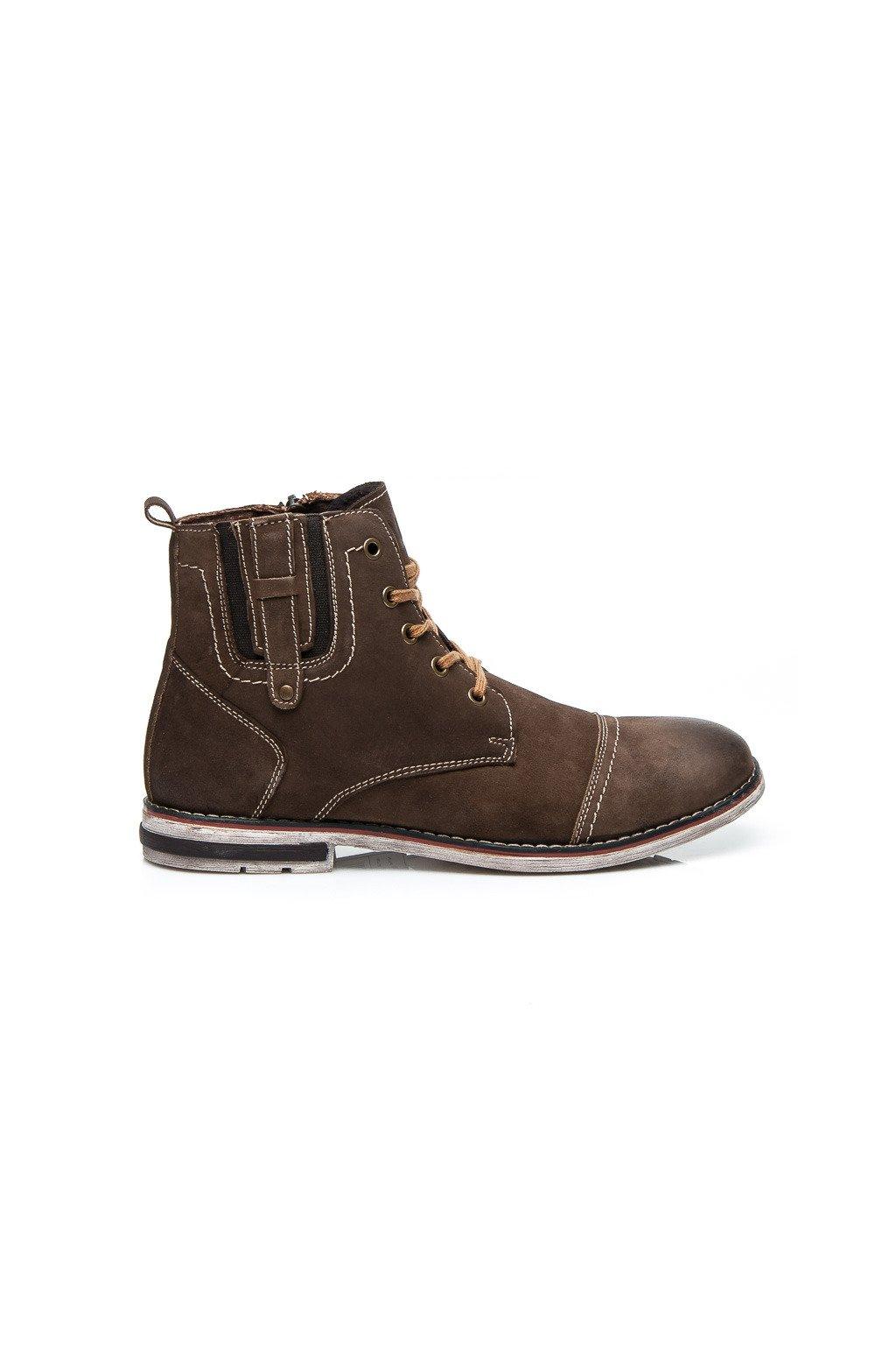 Hnedá pánska obuv SH15-1904BR   L11 veľ.č. 42  9ccad1bd668
