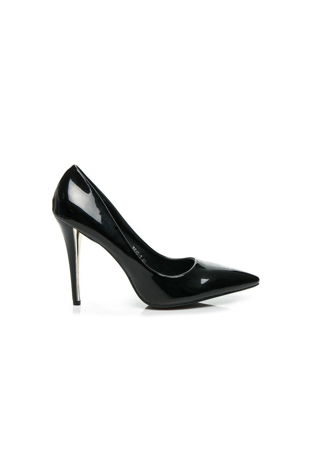 Elegantné čierne lodičky 3648B