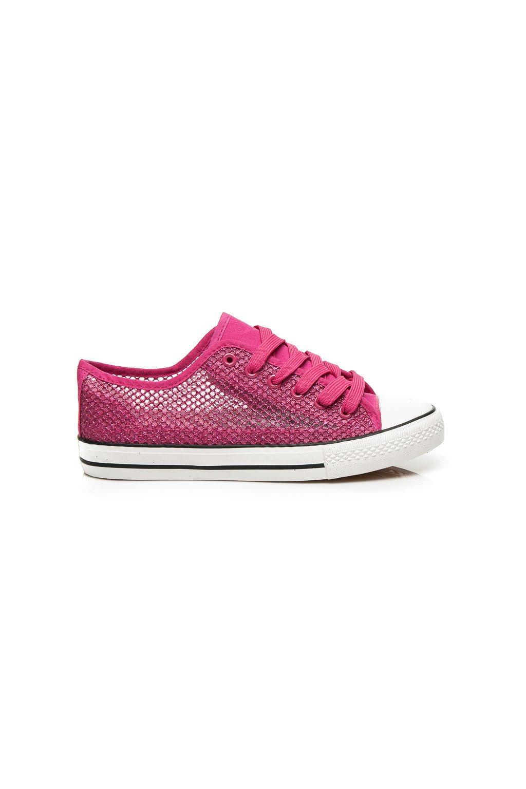 Ružové plátené tenisky E26RO veľ.č. 37, 39, 40 (Veľkosť UK3 / EUR 36)