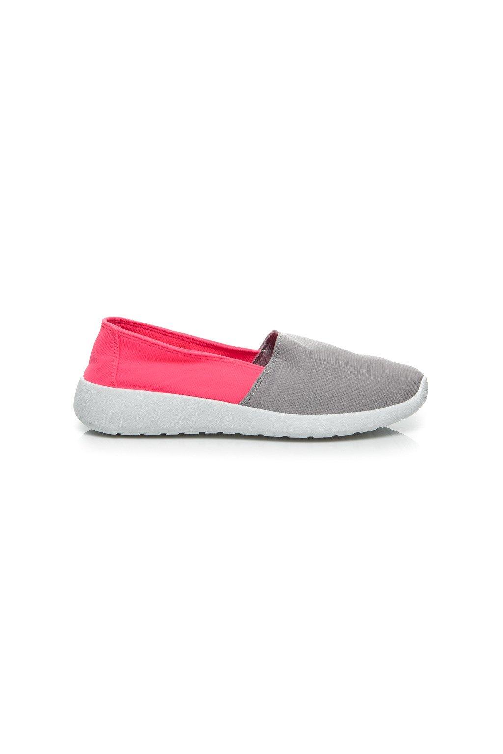 Ružovo-sivé SLIP ON tenisky 7TX-AI85908CO/G veľ.č. 38 (Veľkosť UK7 / EUR 40)