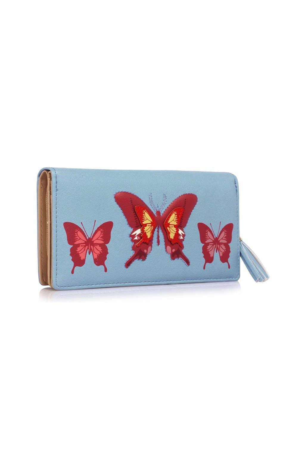 Peňaženka Butterfly modrá LSP1082