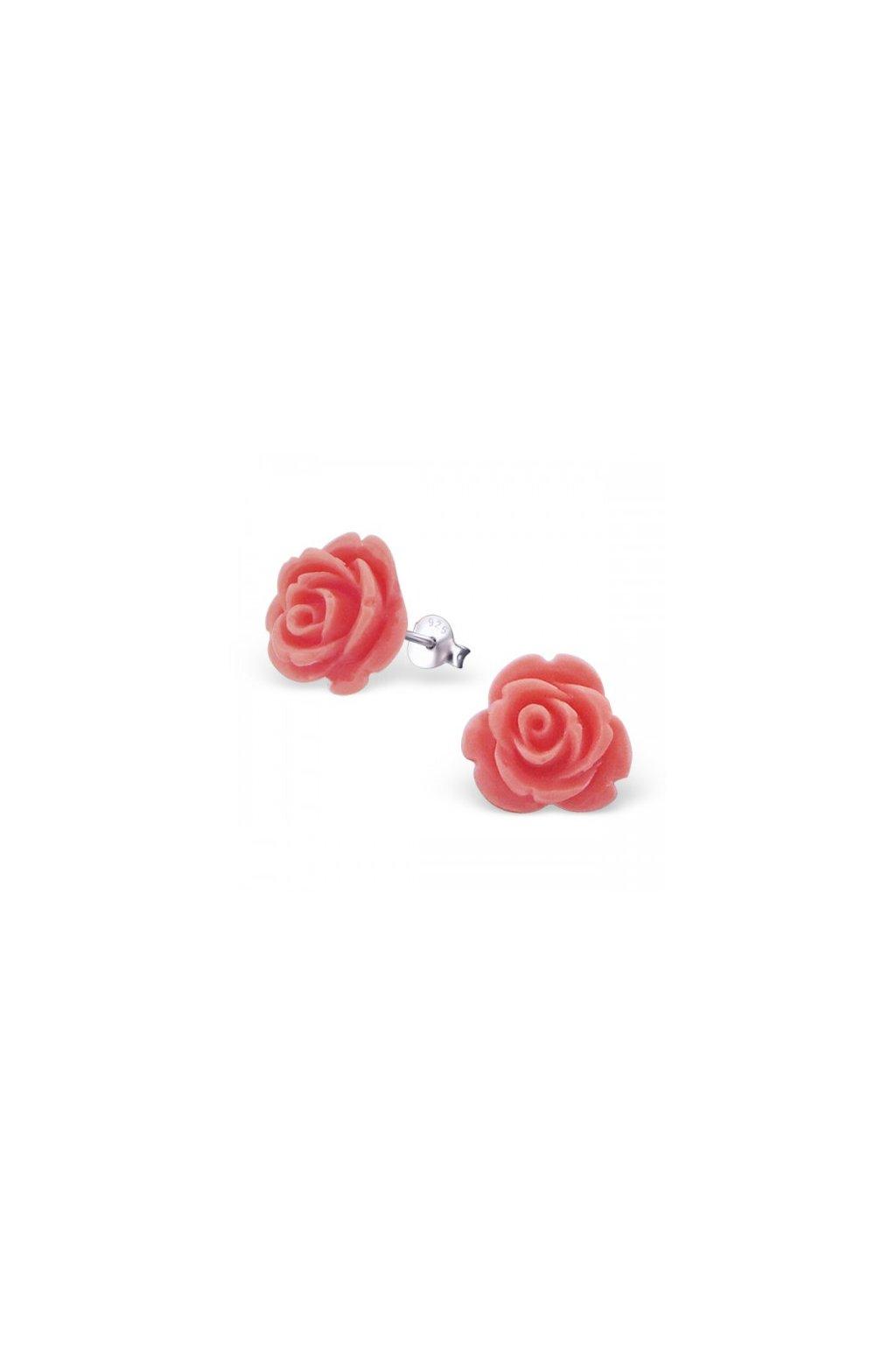 Strieborné náušnice ruže - 925 MS20935
