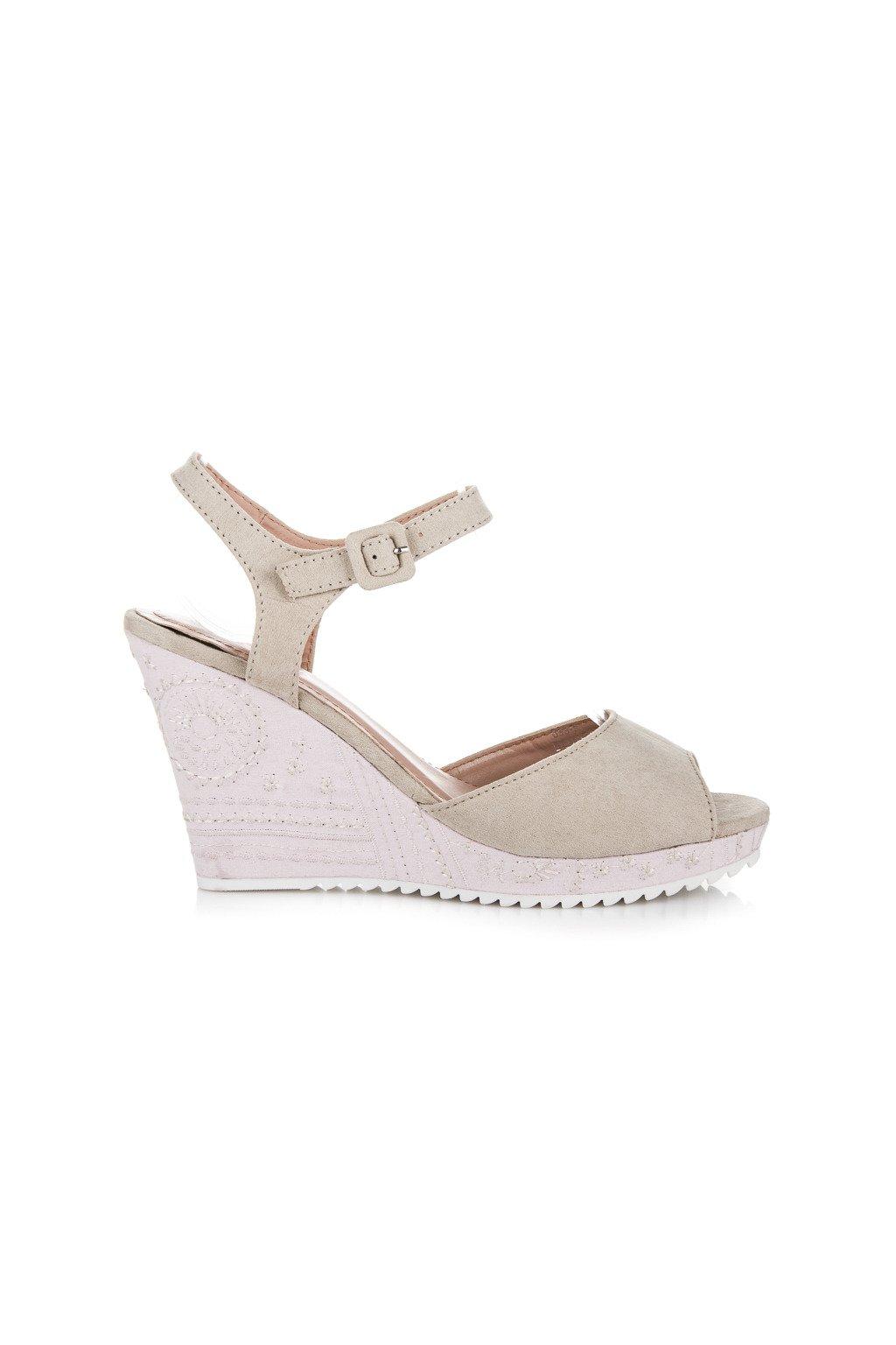 Béžové sandále 699-9BE
