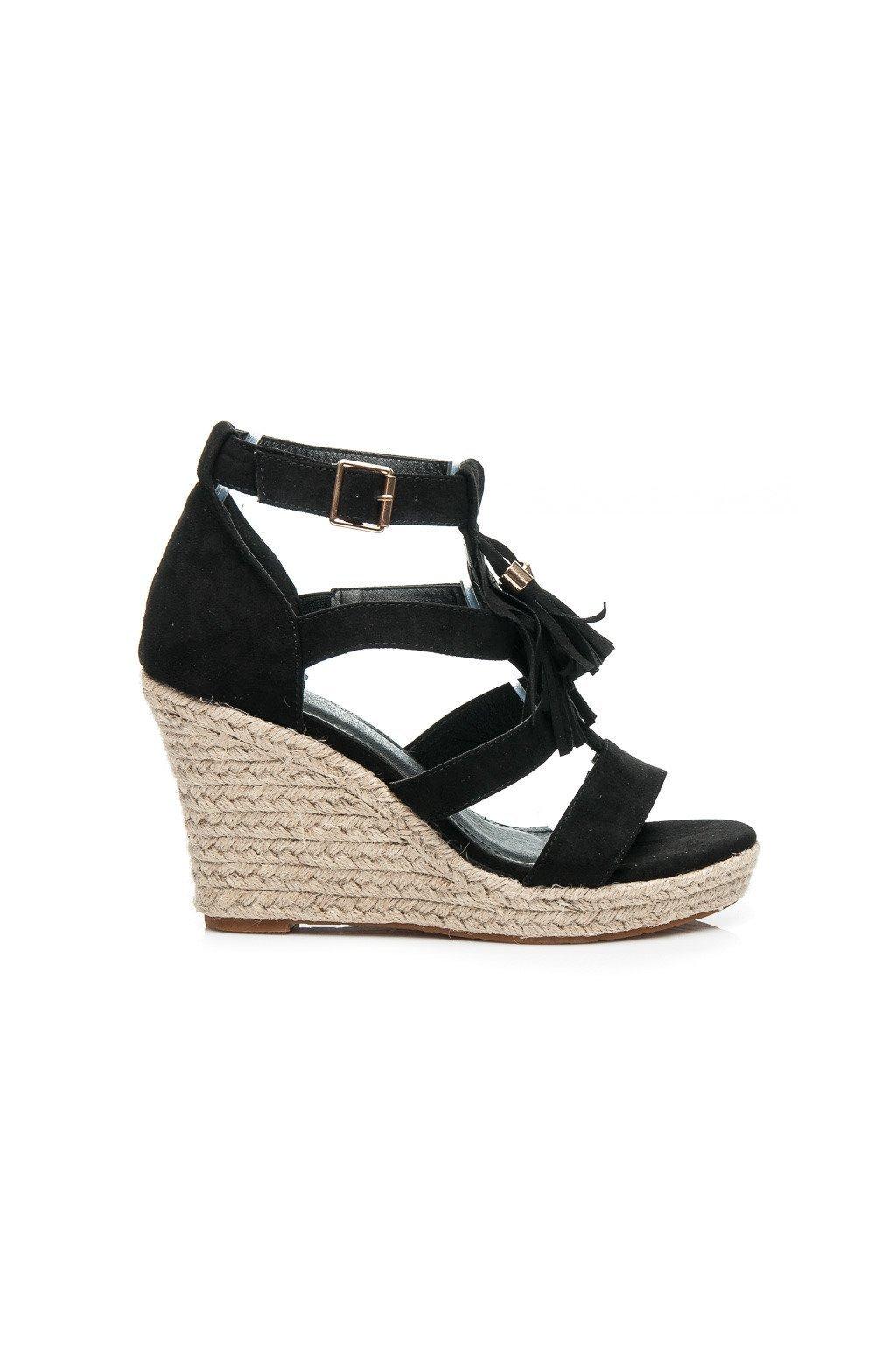Čierne sandále BOHO 6021-1B