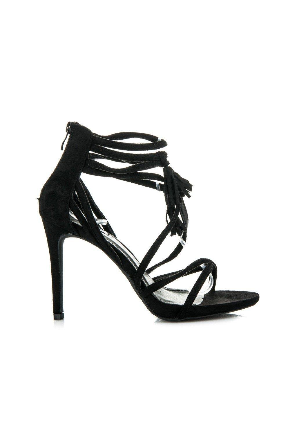 Čierne sandále BOHO 1249-1B