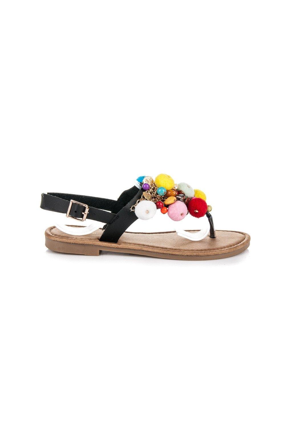 Čierne sandále s brmbolcami JTT-5B 11dd33b1330