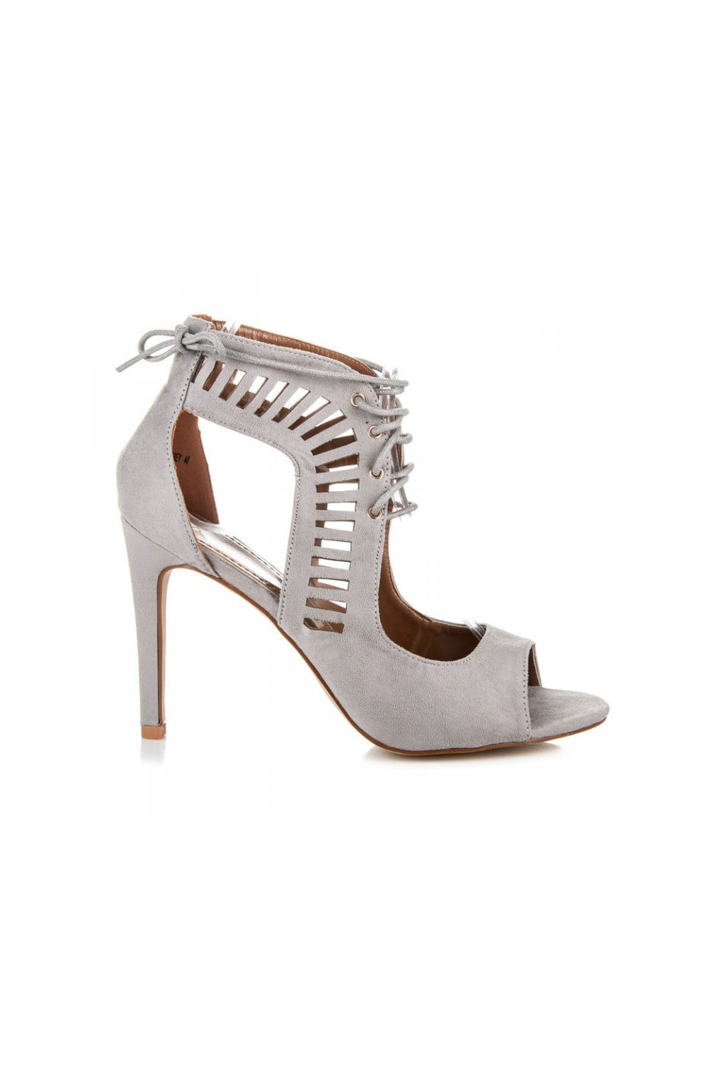 Sivé sandále P6001-1G