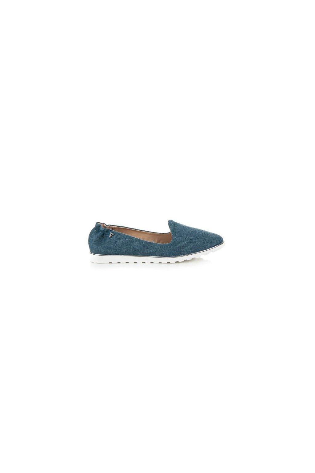 Modré balerínky 1155-11BL