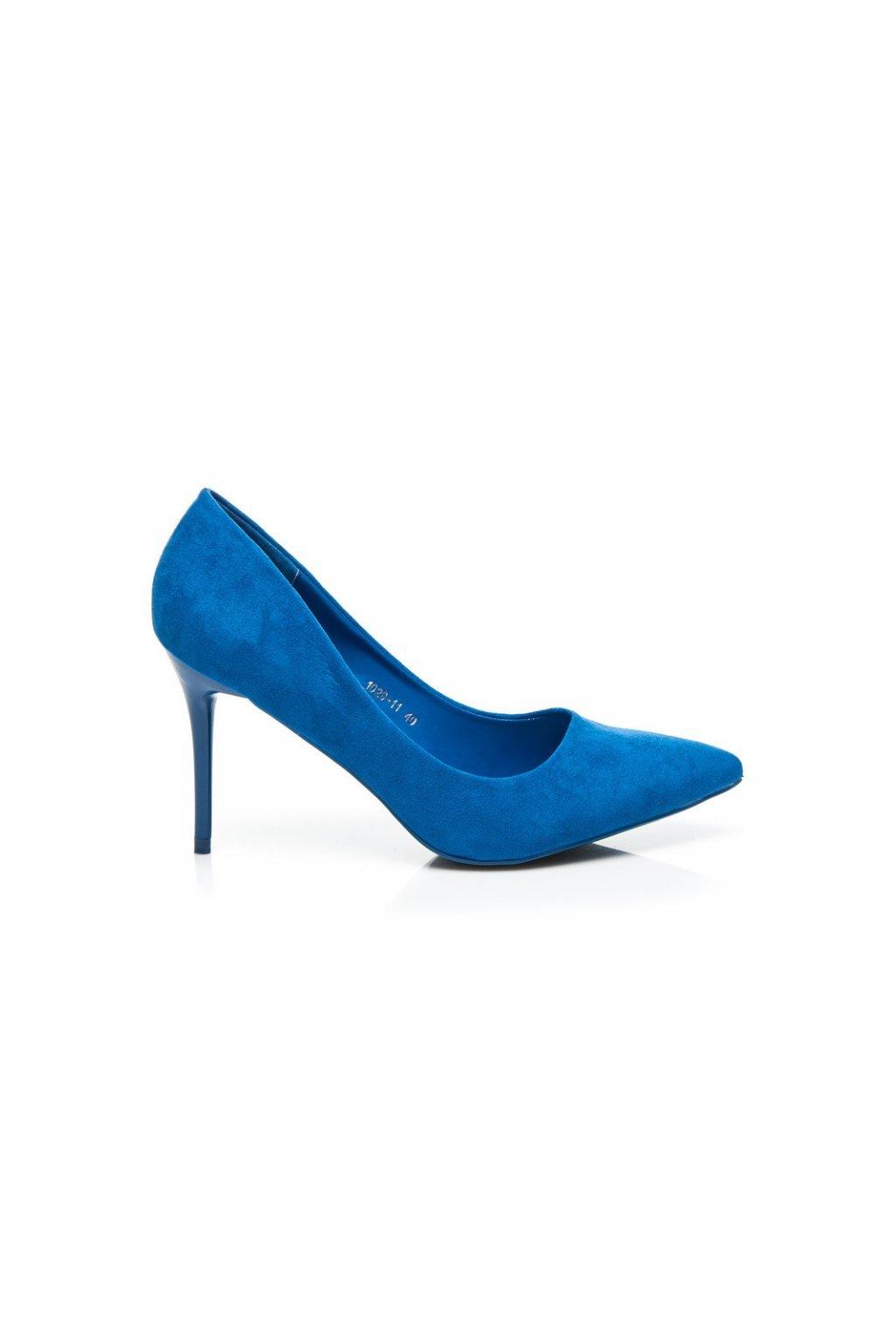 Semišové modré lodičky 1029-11BL 4aeb9ad98f