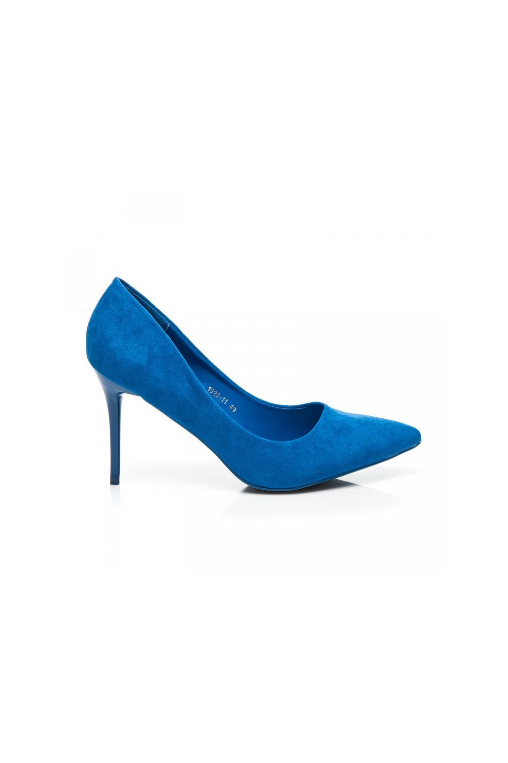 Semišové modré lodičky 1029-11BL