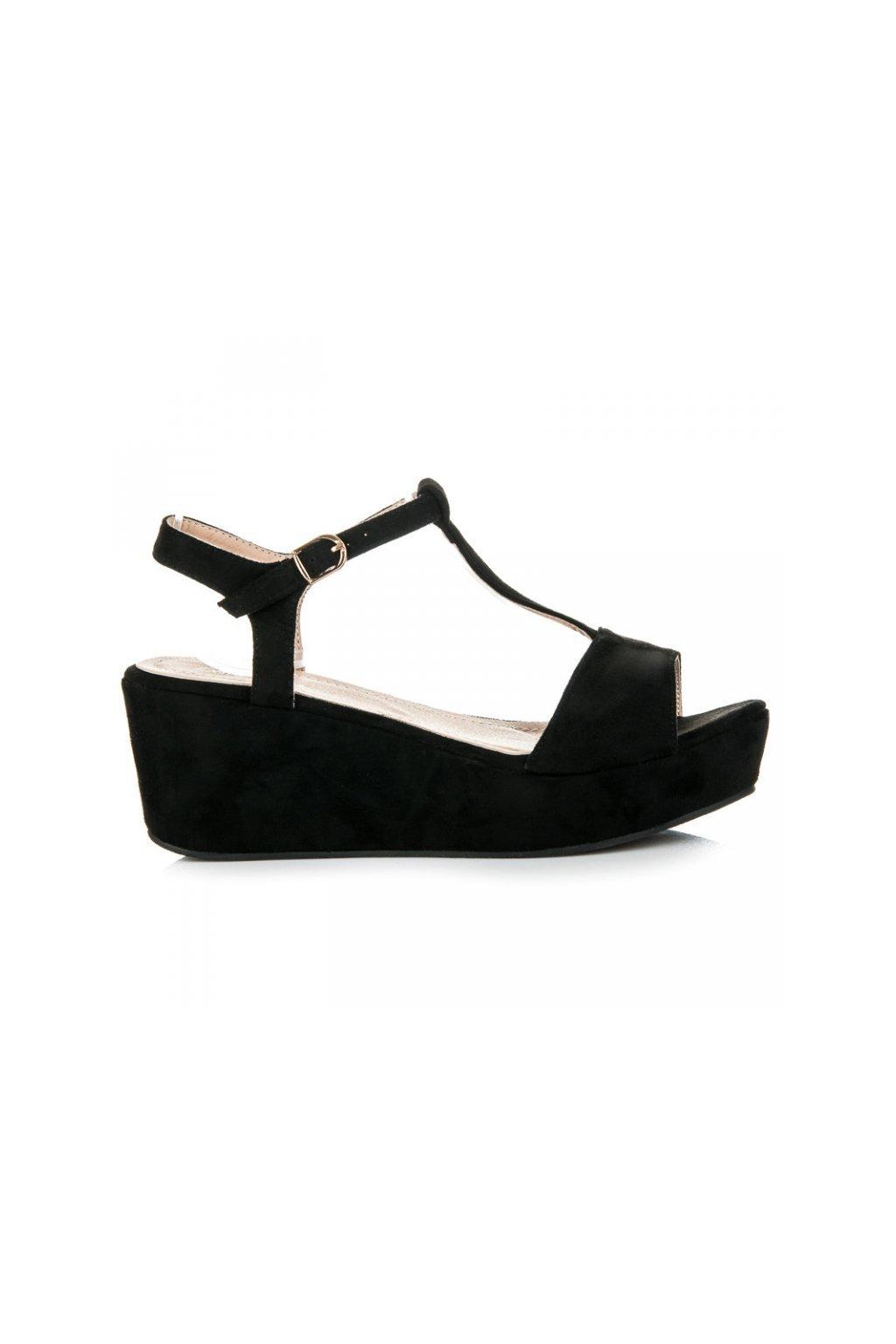 Čierne sandále B1709B