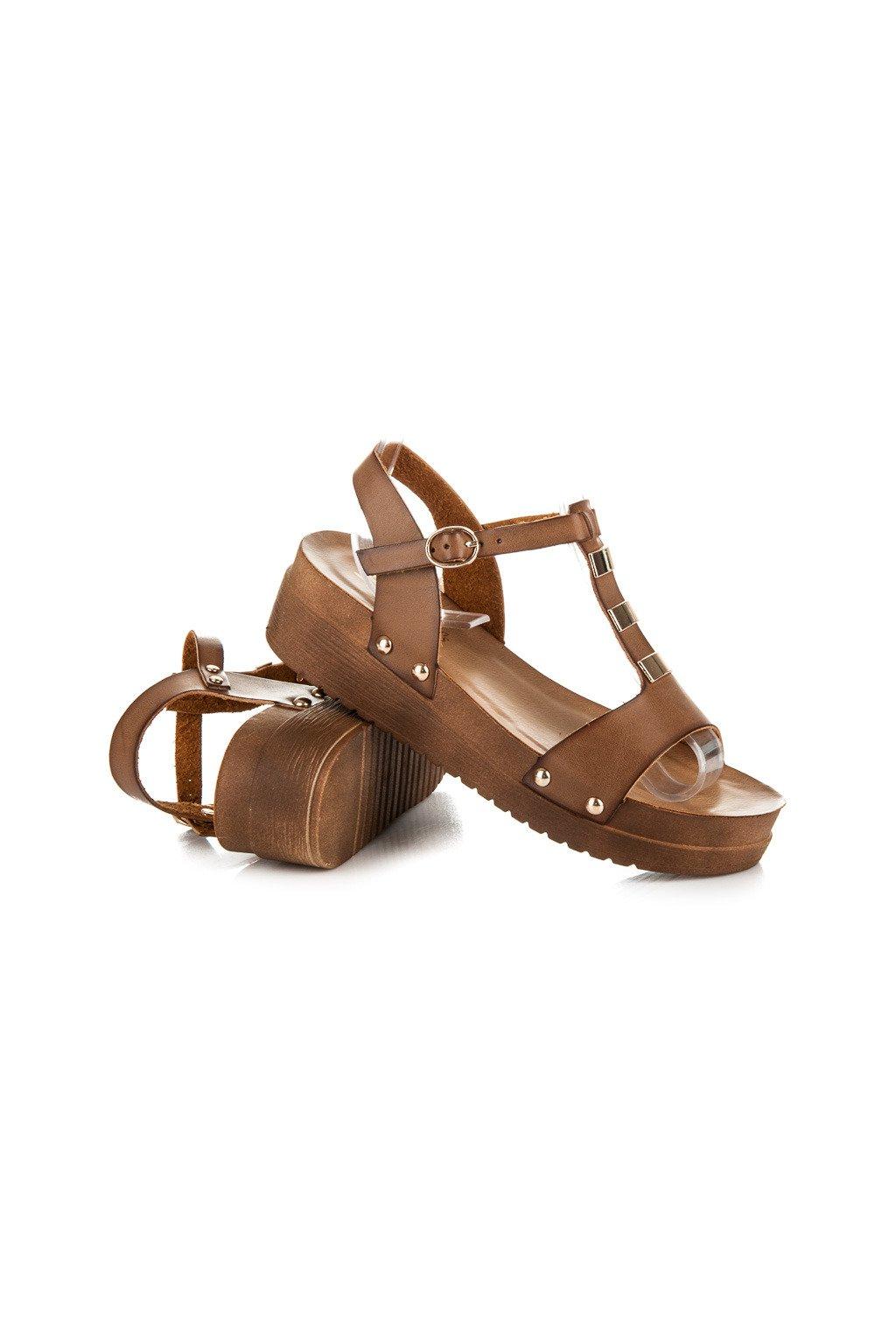 Hnedé sandále 568-6KH d7440f95e1e