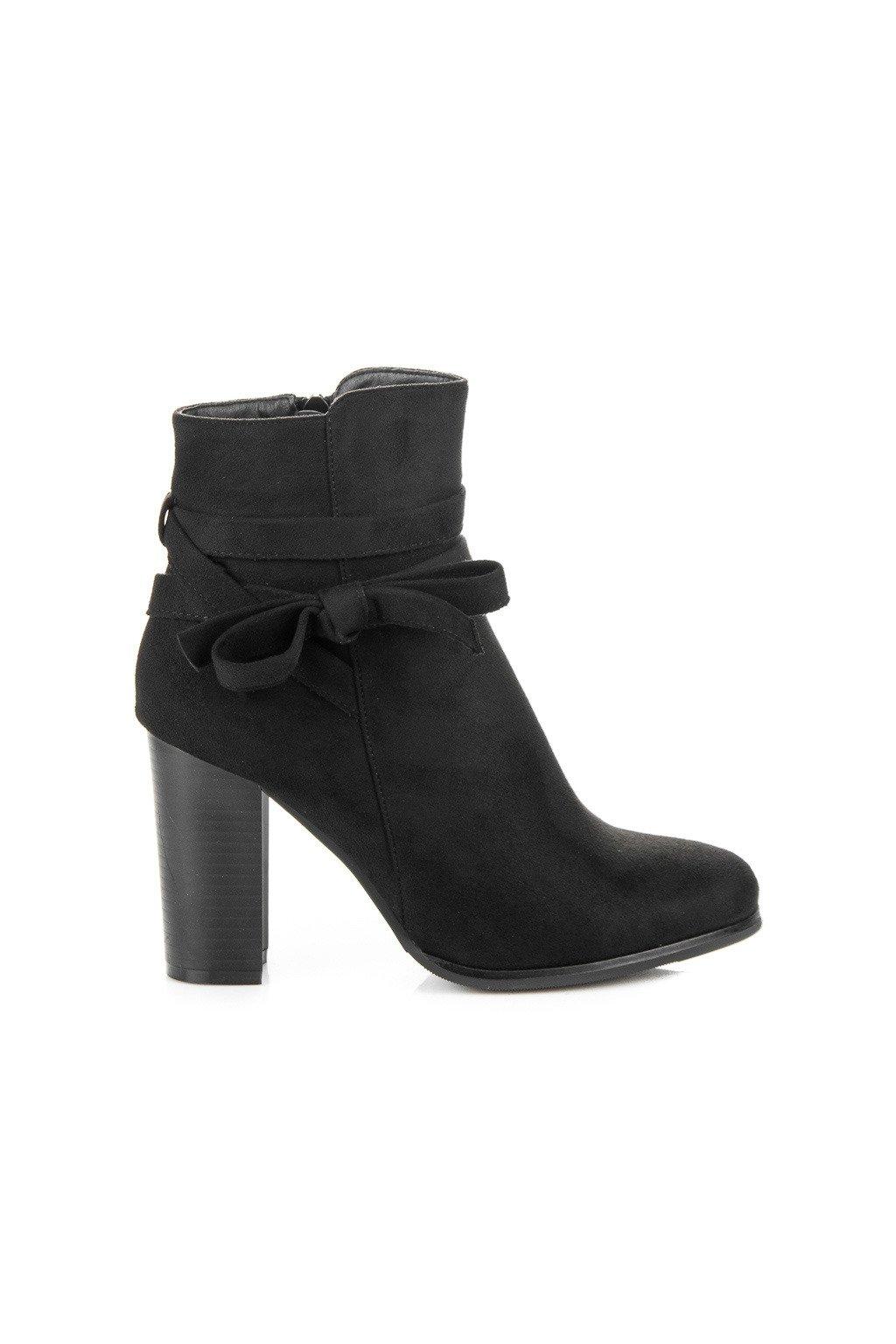 Čierne topánky s mašľou H197B 43e38a72145