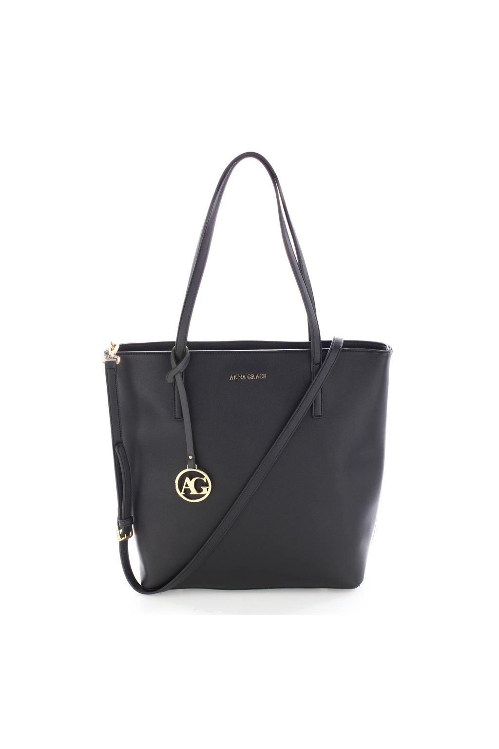 Čierna kabelka na rameno Lily AG00564