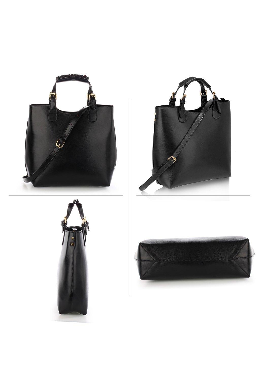 Kabelka čierna Delia AG00267 čierna kabelka ... 926f55ab750