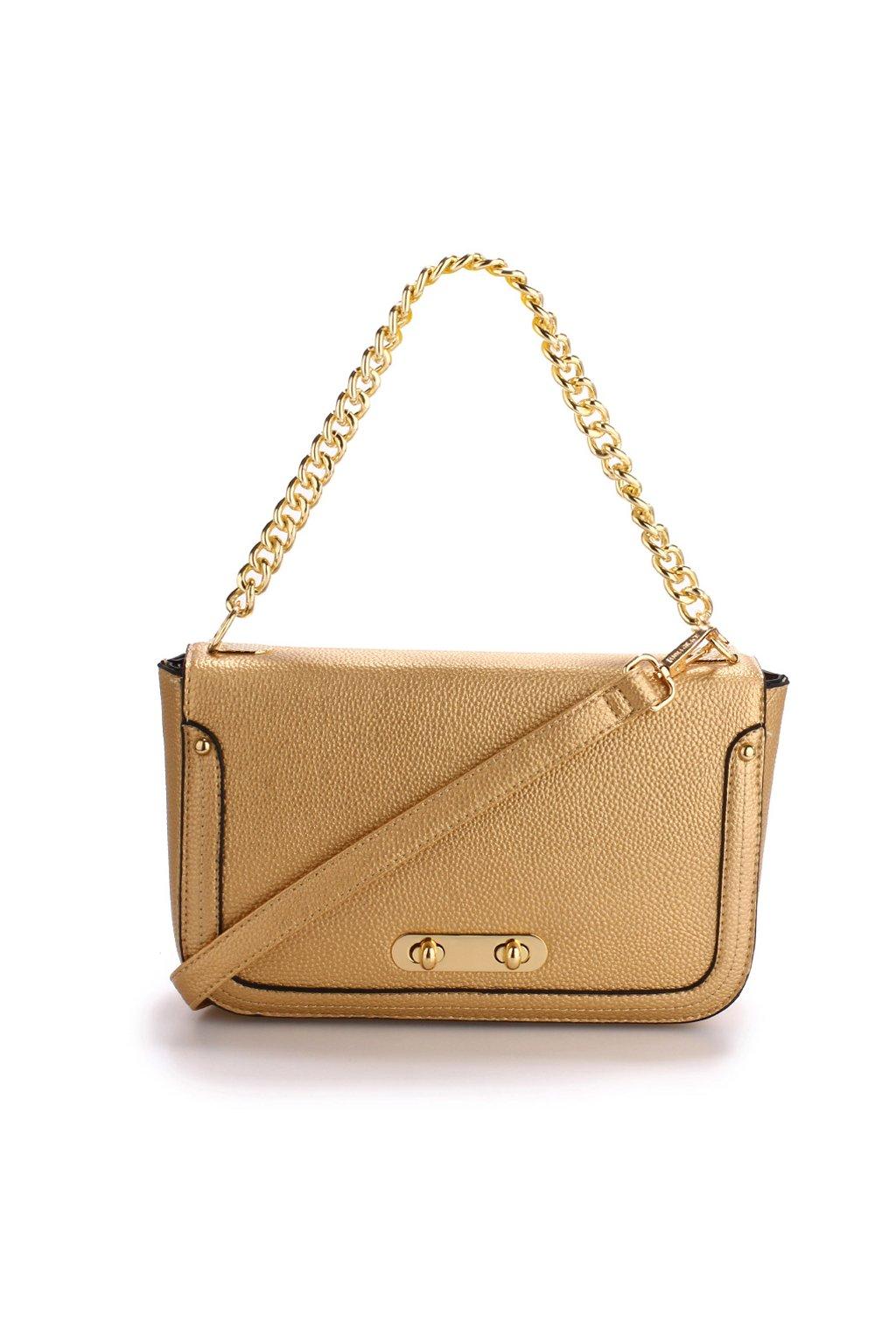 Zlatá crossbody kabelka Riley AG00560