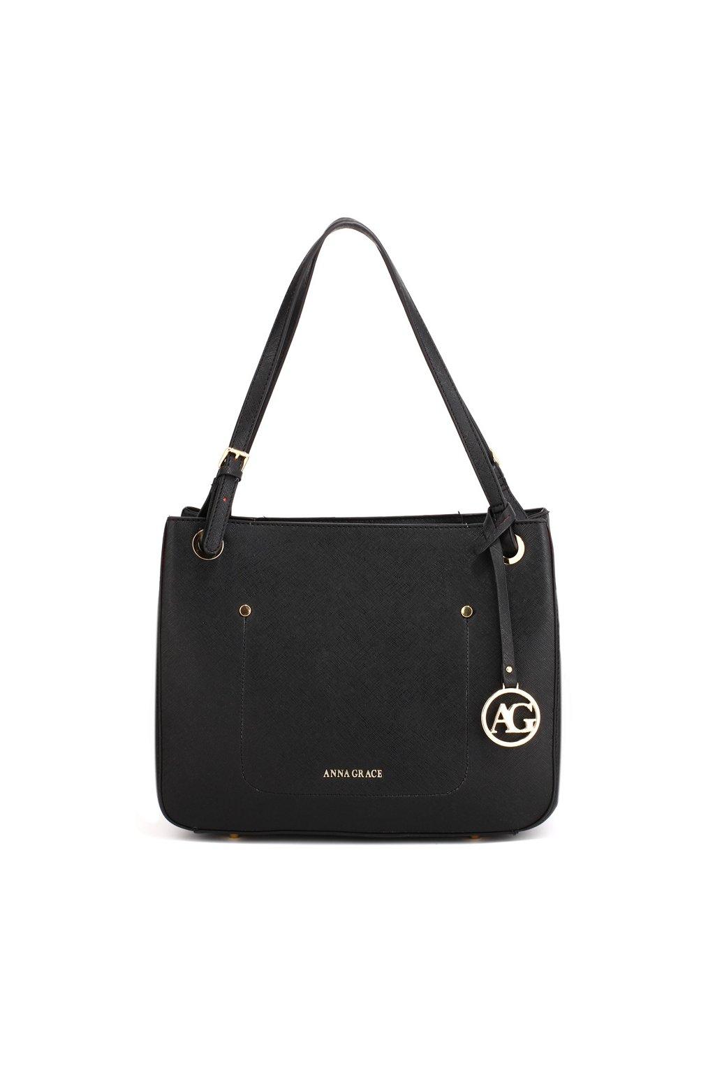 Čierna kabelka na rameno Alvena AG00570 3060aa0b9dc