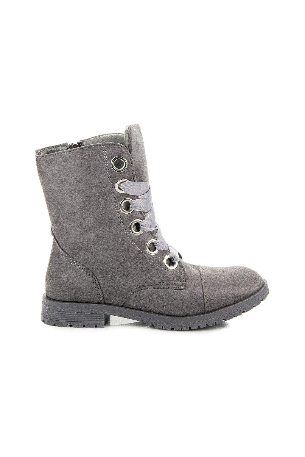 5186bb2ad Dámske rockové kotníkové topánky na jeseň čierne NS08B