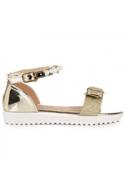 Zlaté sandále pre deti Vinceza BOR18-13201GO