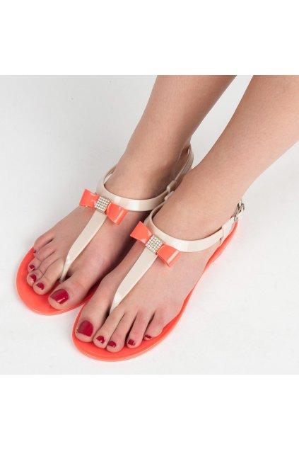 Oranžové sandále melisky Vinceza RMC16-4102CO