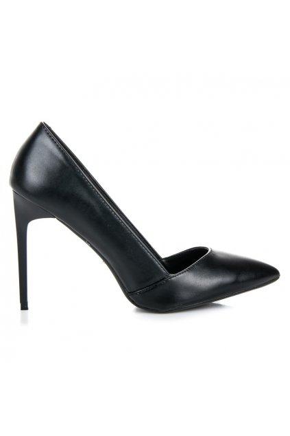 Elegantné čierne lodičky Vices 5137-1B