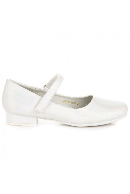 Biele detské baleríny ZSH18-8846W