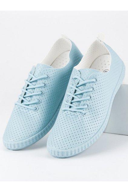 Modré ažurové tenisky K399BL