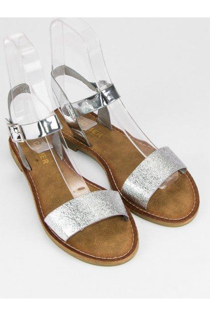 Elegantné strieborné sandále ALS010S