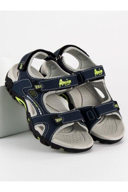 Tmavomodré detské sandále SC1622N