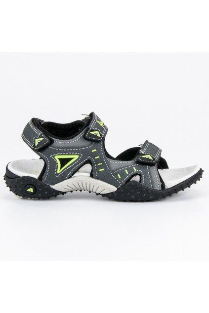 Sivé chlapčenské sandále BIF5267G