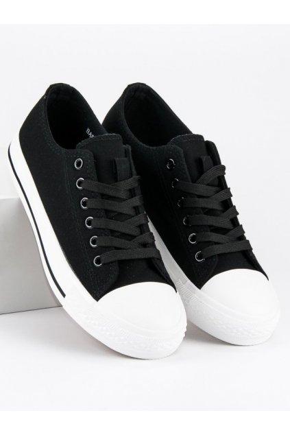 Textilne čierne tenisky BAF18-11620B