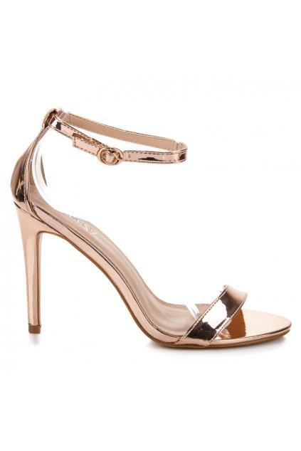 Ružové sandále na opätku Vinceza