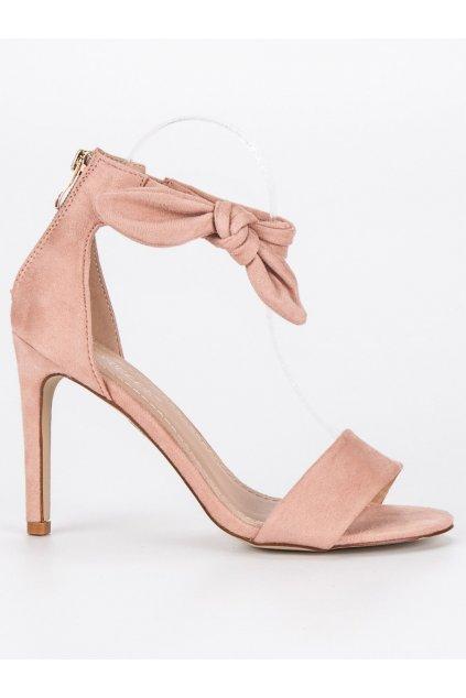 Semišové sandále ružové S-338P